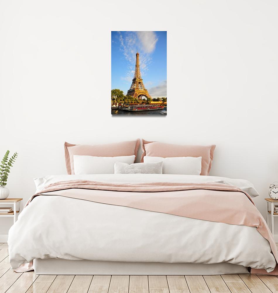 """Eiffel Tower at Dusk""  (2009) by bellasiena"