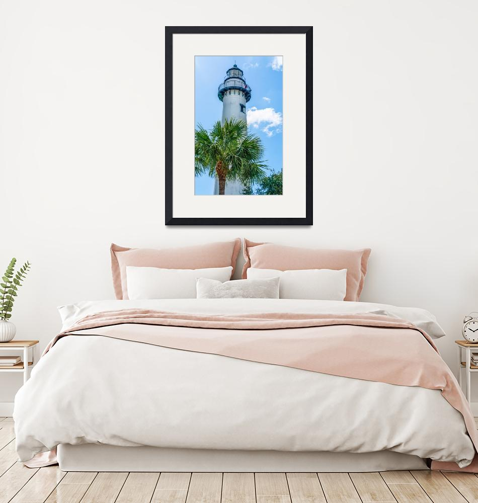 """""""St. Simon Lighthouse Vertical""""  (2019) by beecreekphotography"""