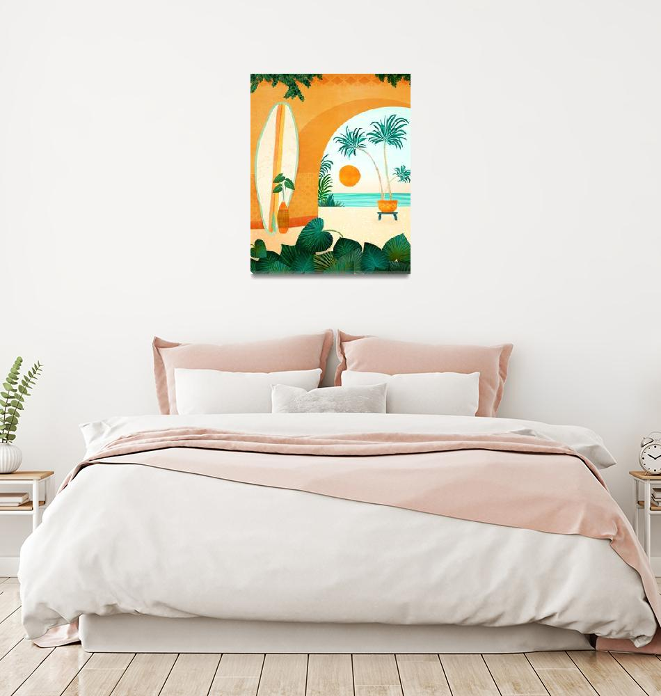 """""""Seaside Surf Retreat""""  (2020) by moderntropical"""
