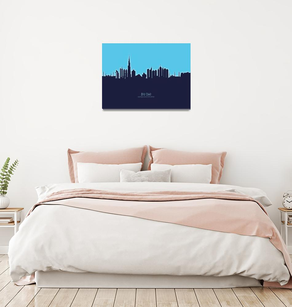 """Dubai Skyline""  (2020) by ModernArtPrints"