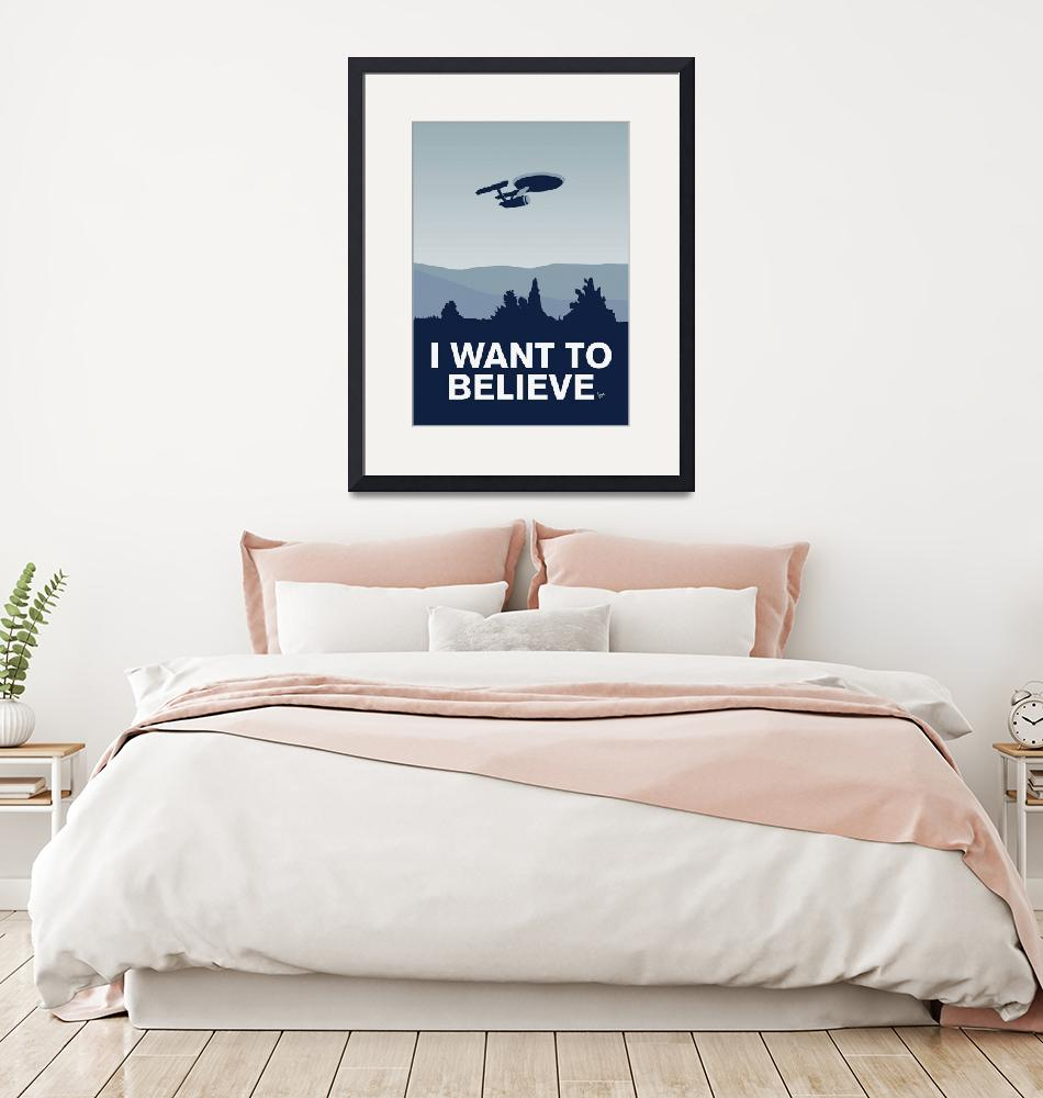 """""""My I want to believe minimal poster-Enterprice""""  by Chungkong"""