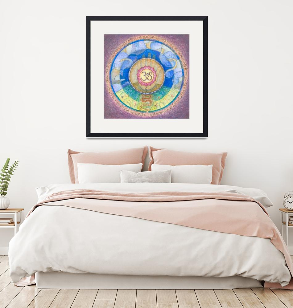 """Mandala for Peace and Happiness""  (2007) by DevotionalArts"