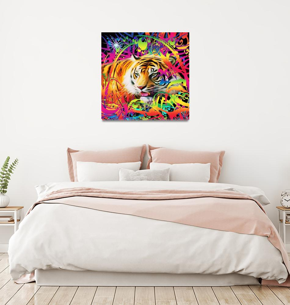 """""""Tiger in the Jungle""""  (2019) by Icarusismart"""