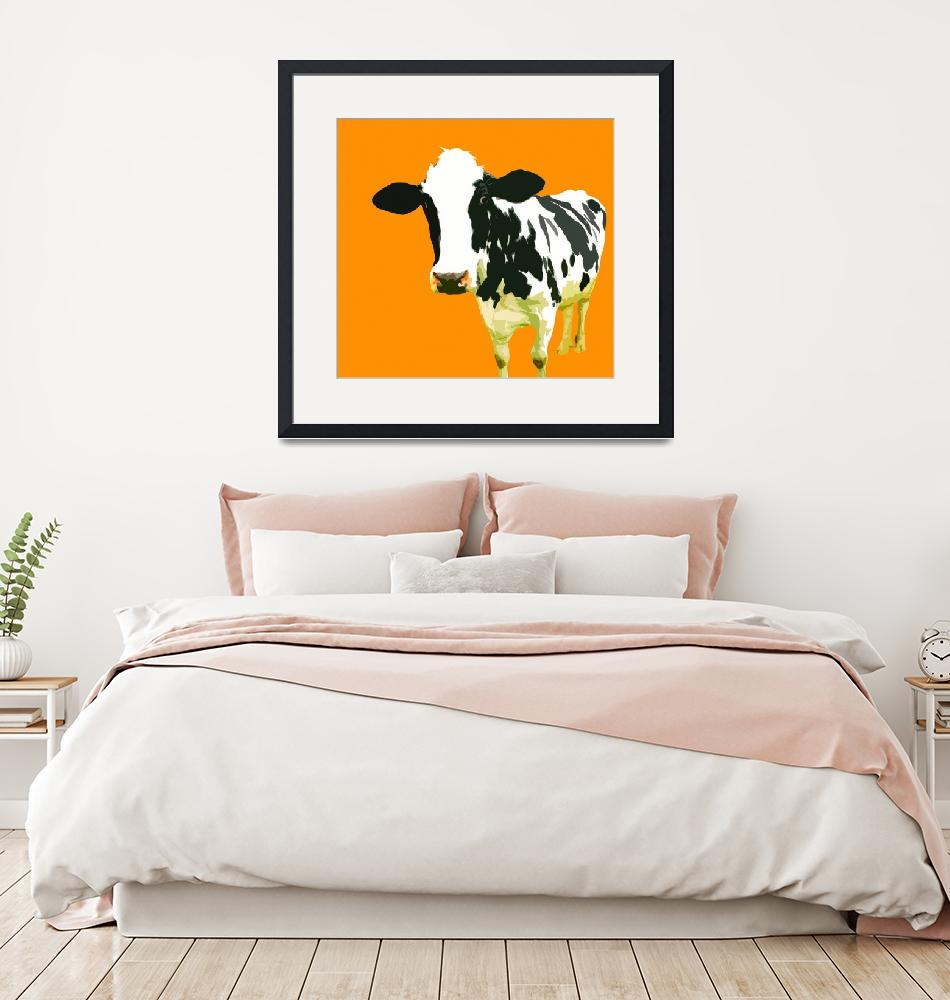 """Cow in Yellow World""  (2010) by whitewallgallery"