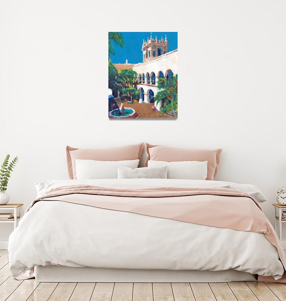 """Balboa Park House of Hospitality Courtyard""  (2021) by RDRiccoboni"
