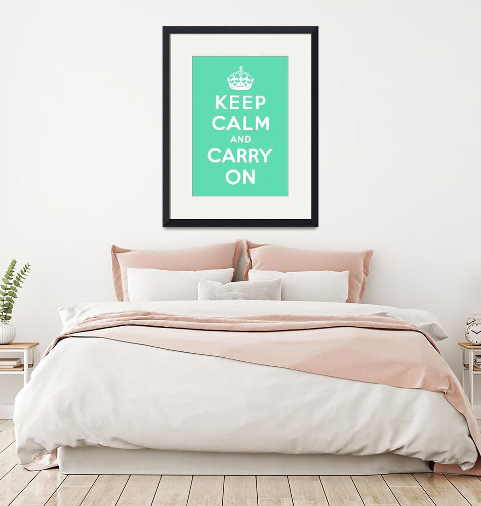 """""""Green Keep Calm And Carry On 9""""  by oldies"""