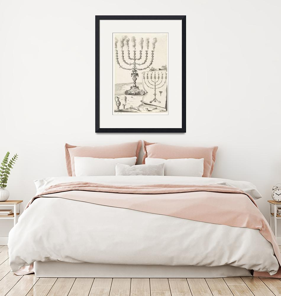 """""""Golden seven-armed candlestick or menorah, Francoi""""  by motionage"""