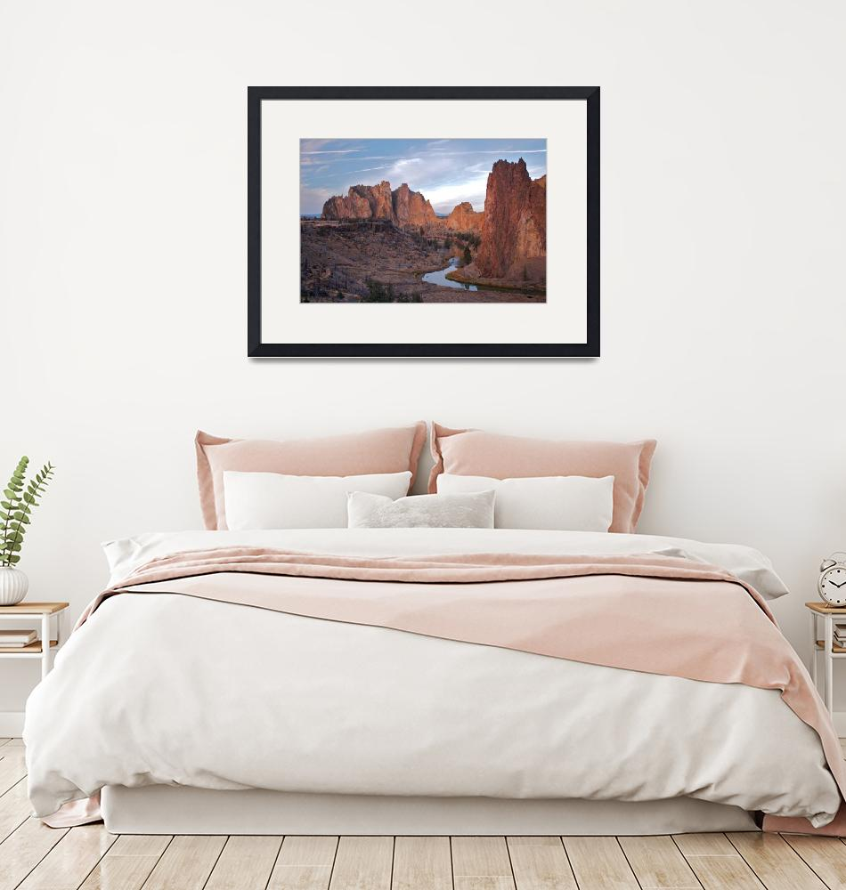 """""""Curve At Smith Rock (Color)""""  (2006) by OlamMasterImagery"""