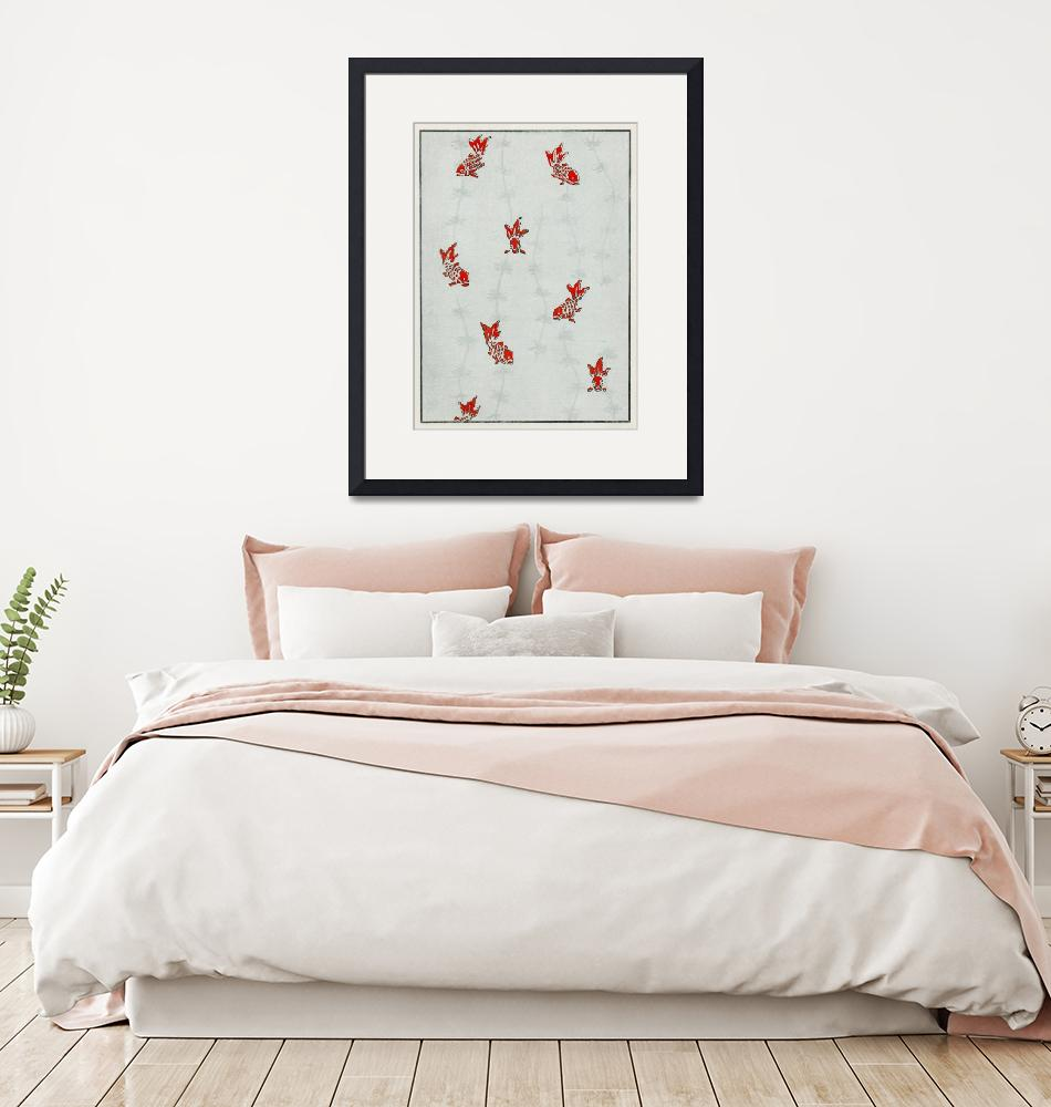 """Goldfish Print by Watanabe Seitei""  by FineArtClassics"