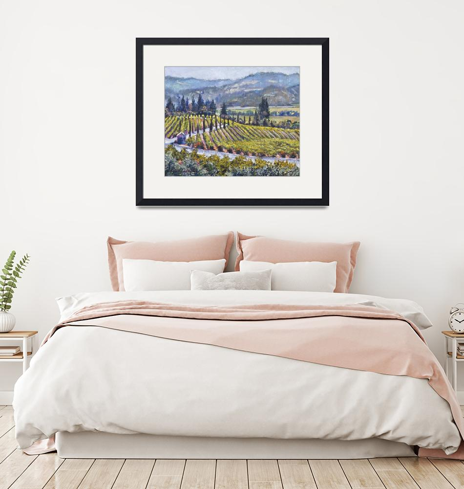 """NAPA VALLEY VINEYARDS""  (2019) by DavidLloydGlover"