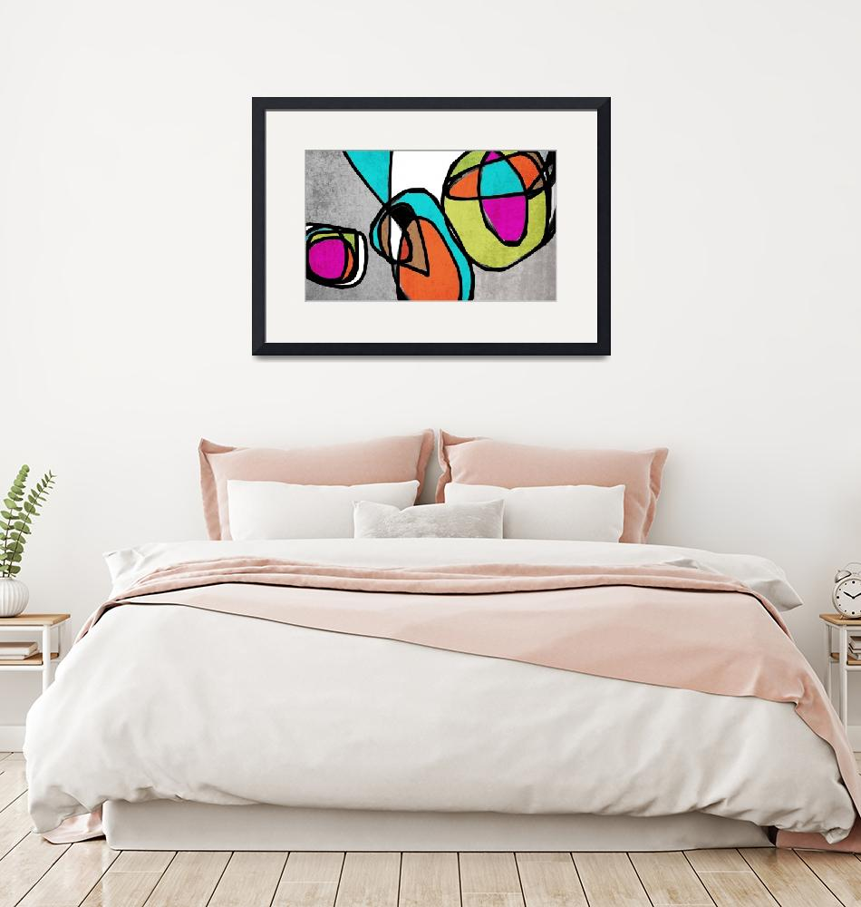 """""""Vibrant Colorful Abstract-68-2889""""  by Aneri"""