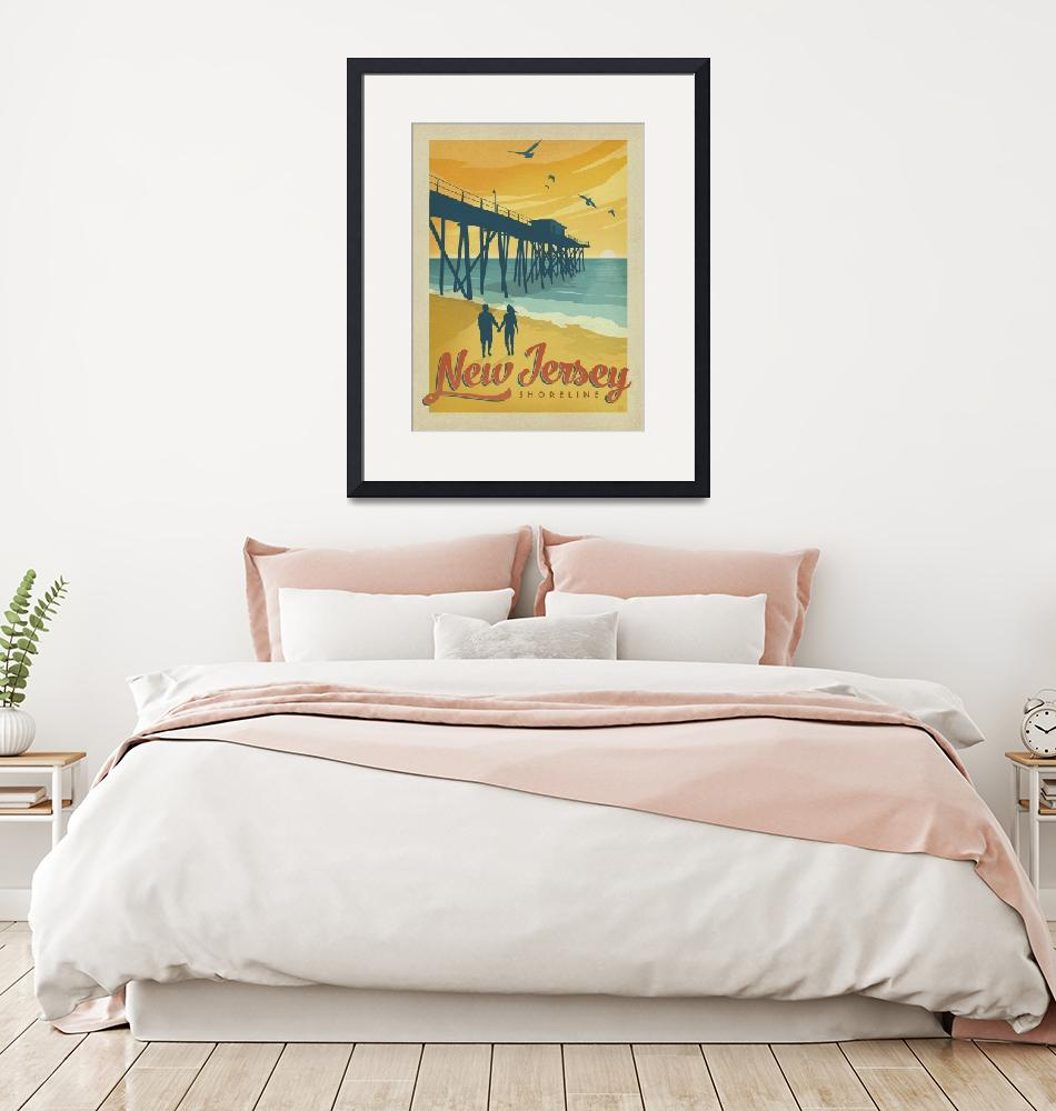 """""""New Jersey Retro Travel Poster""""  by artlicensing"""