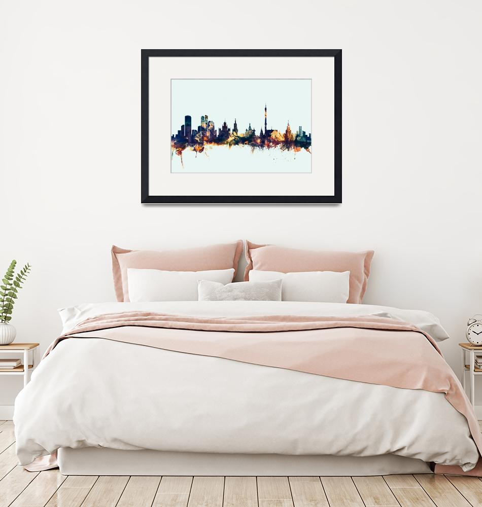 """Moscow Russia Skyline""  (2015) by ModernArtPrints"