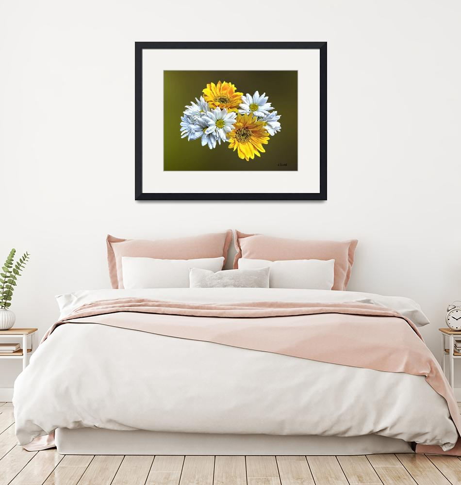"""""""Sunflowers and Daisies"""" by susansartgallery"""