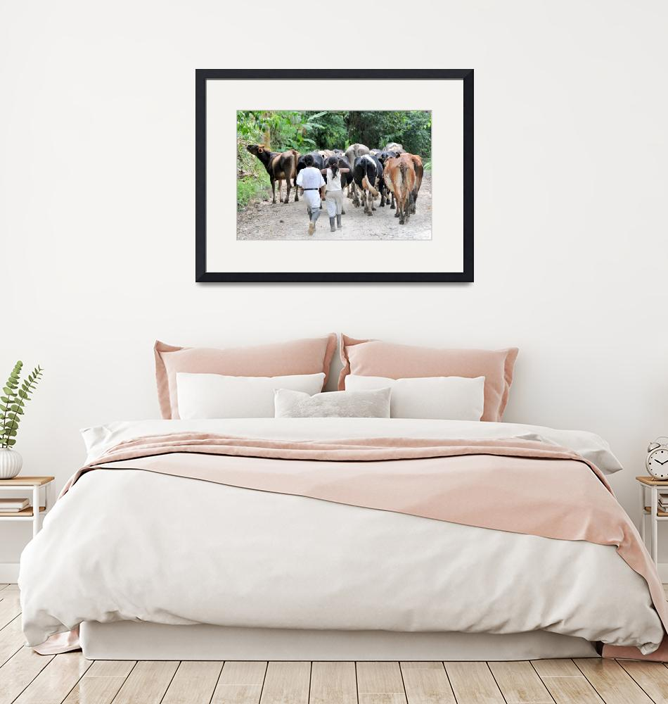 """""""Farm Children Moving Cattle 029_e"""" (2011) by AndreHugosPlace"""