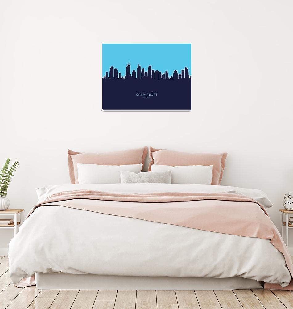 """Gold Coast Australia Skyline""  (2020) by ModernArtPrints"