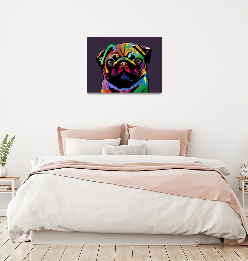 """""""Pug Dog""""  (2011) by ModernArtPrints"""