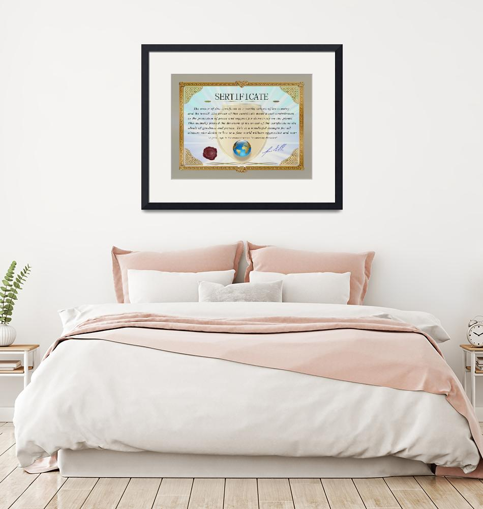"""""""Certificate document award 2"""" (2021) by Radiant"""