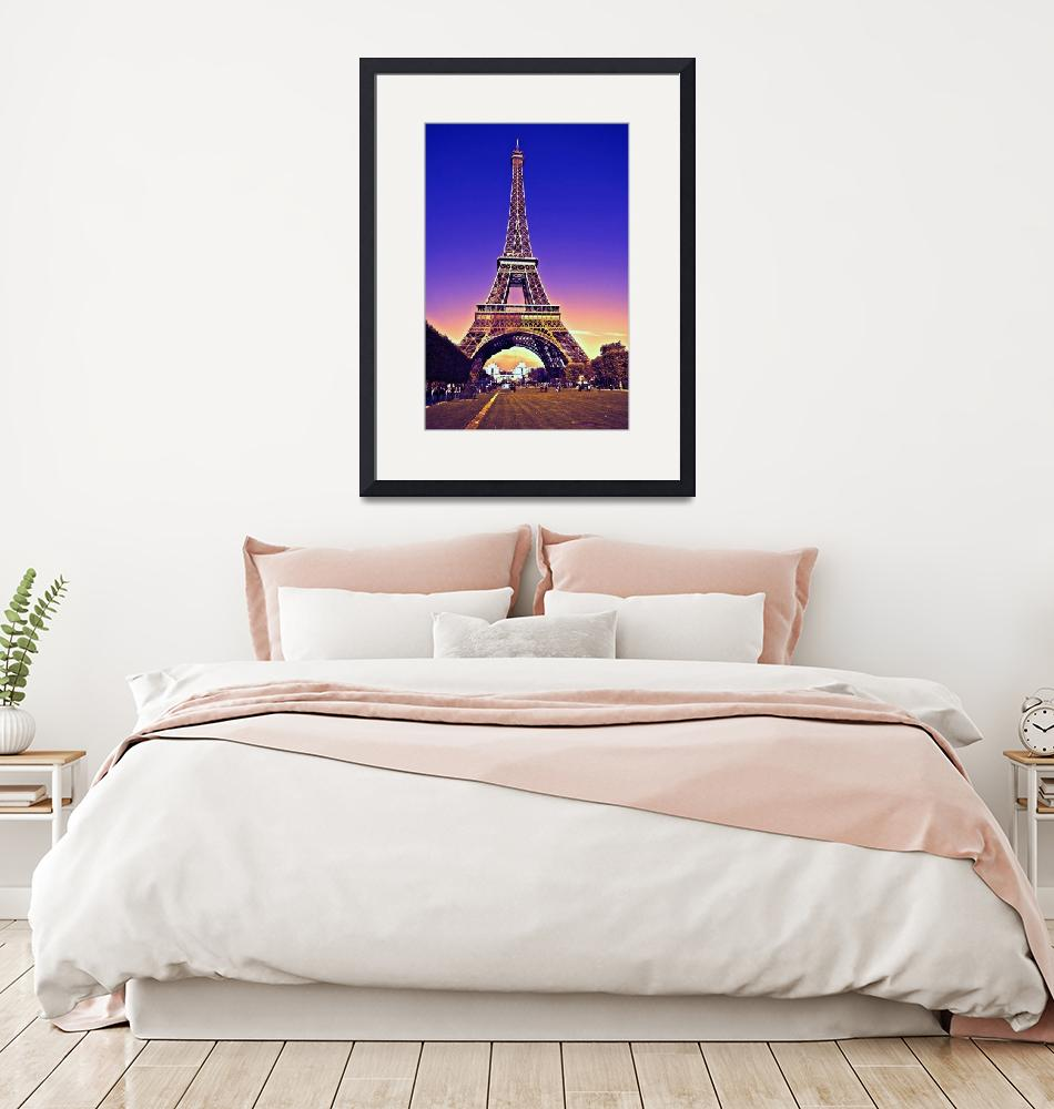 """Eiffel Tower Portait""  (2016) by Charuhas"