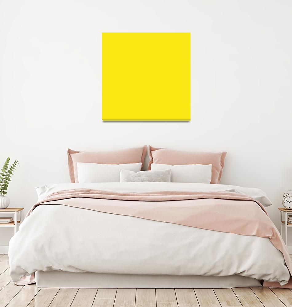 """Square PMS-102 HEX-F9E814 Yellow""  (2010) by Ricardos"