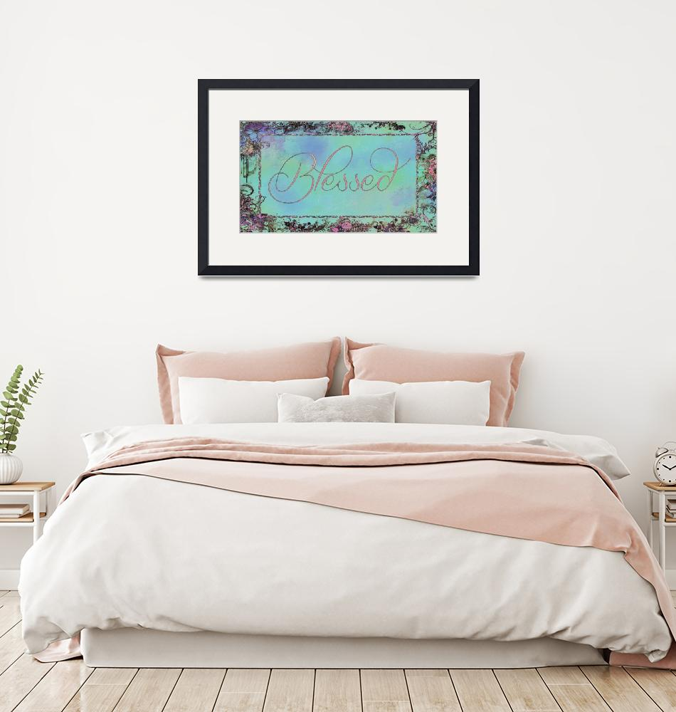 """""""blessed frame teal and pink""""  by lizmix"""