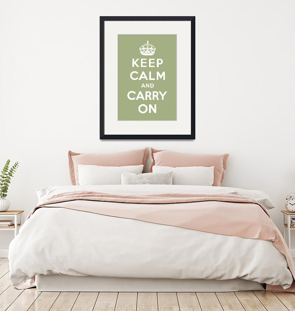 """Green Keep Calm And Carry On 6""  by oldies"