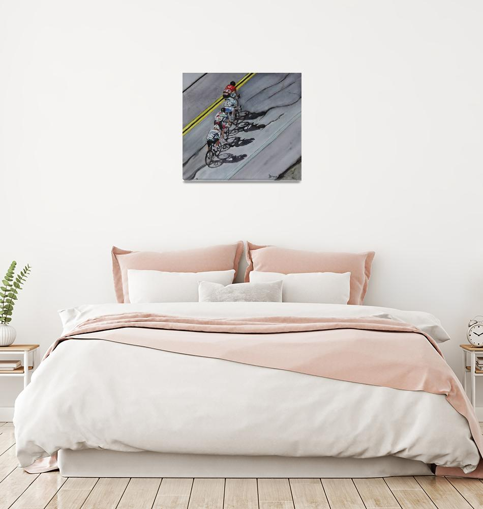 """Crosswind_Paceline_Shadows""  (2019) by DianaNadalFineArt"