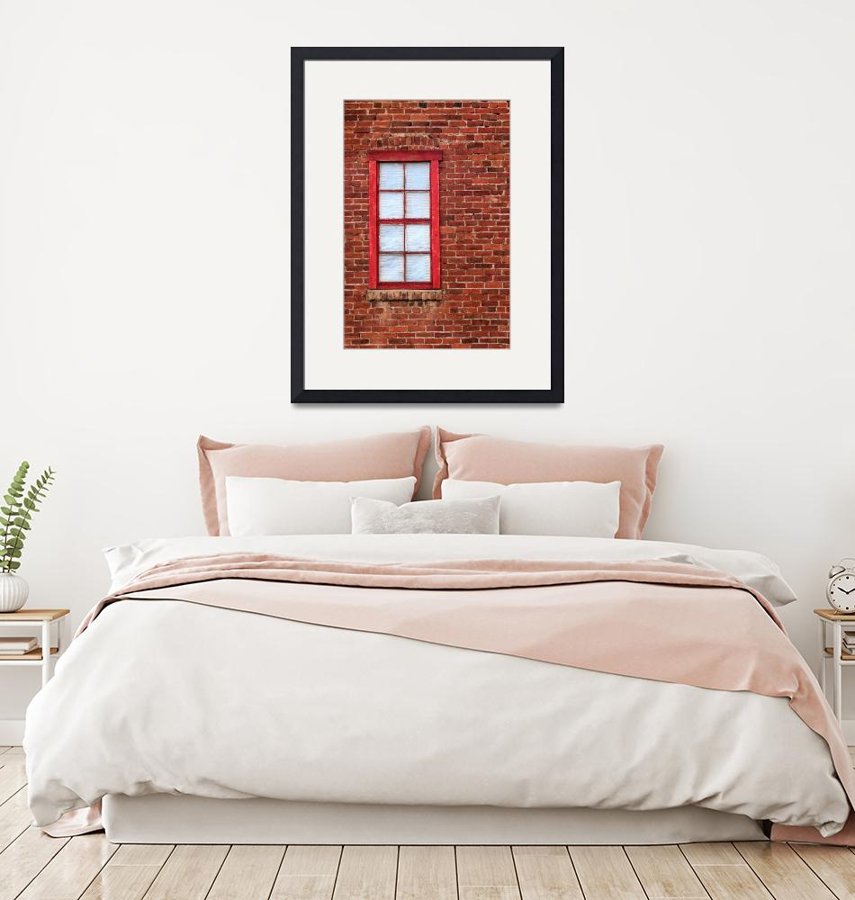 """""""Red Brick And Window""""  (2017) by jameseddy"""