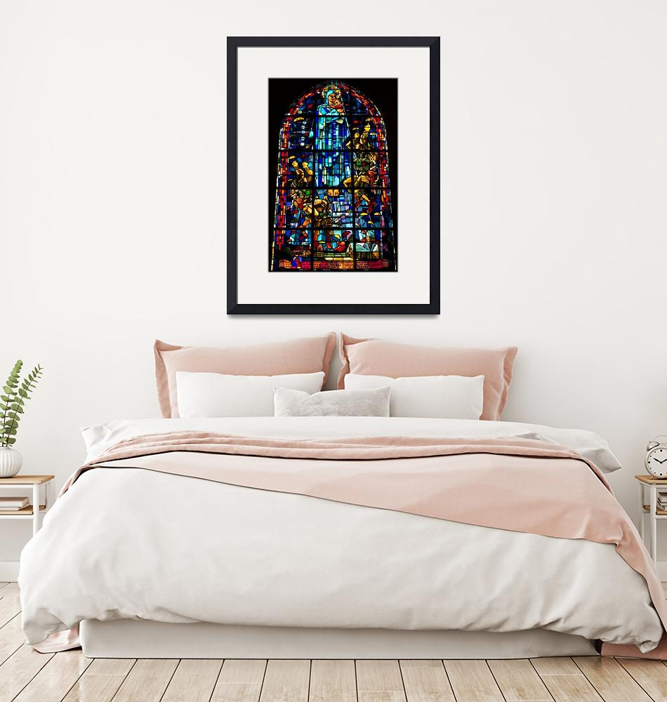 """""""Sainte-Mère-Église Stained Glass""""  (2015) by JohnDaly"""