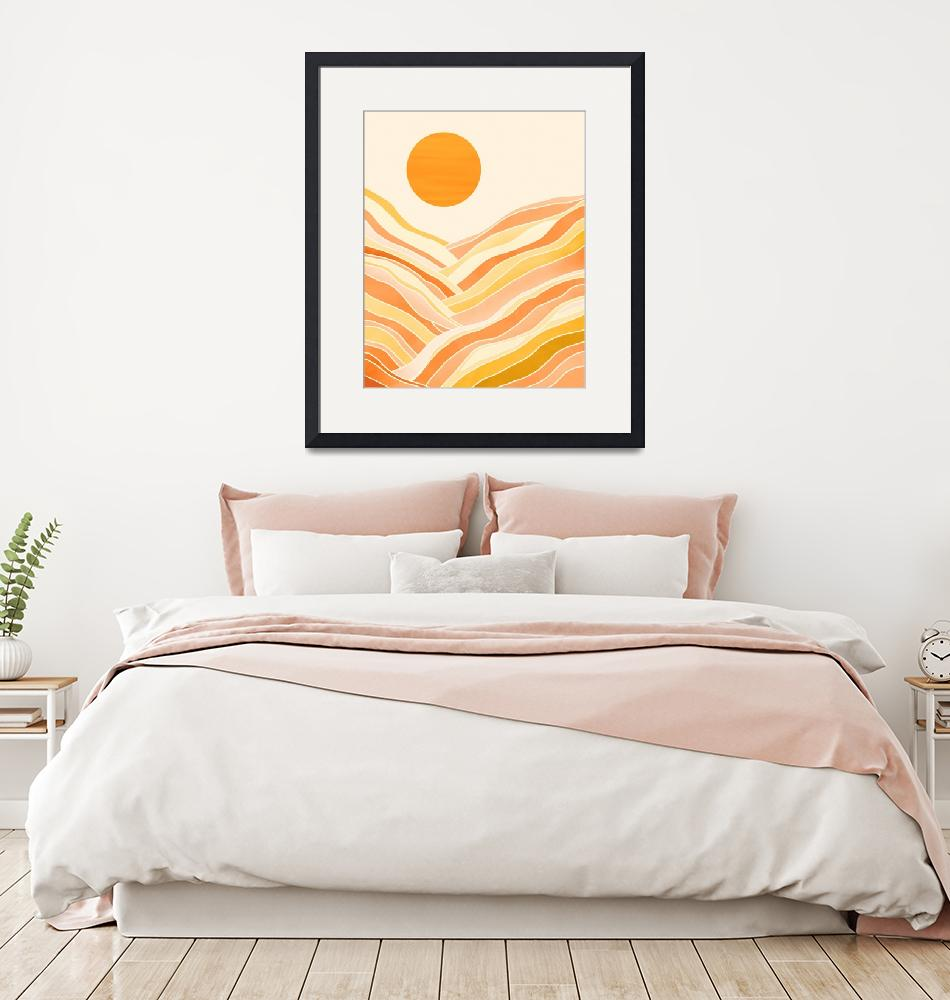 """Golden Mountain Sunset""  (2019) by moderntropical"