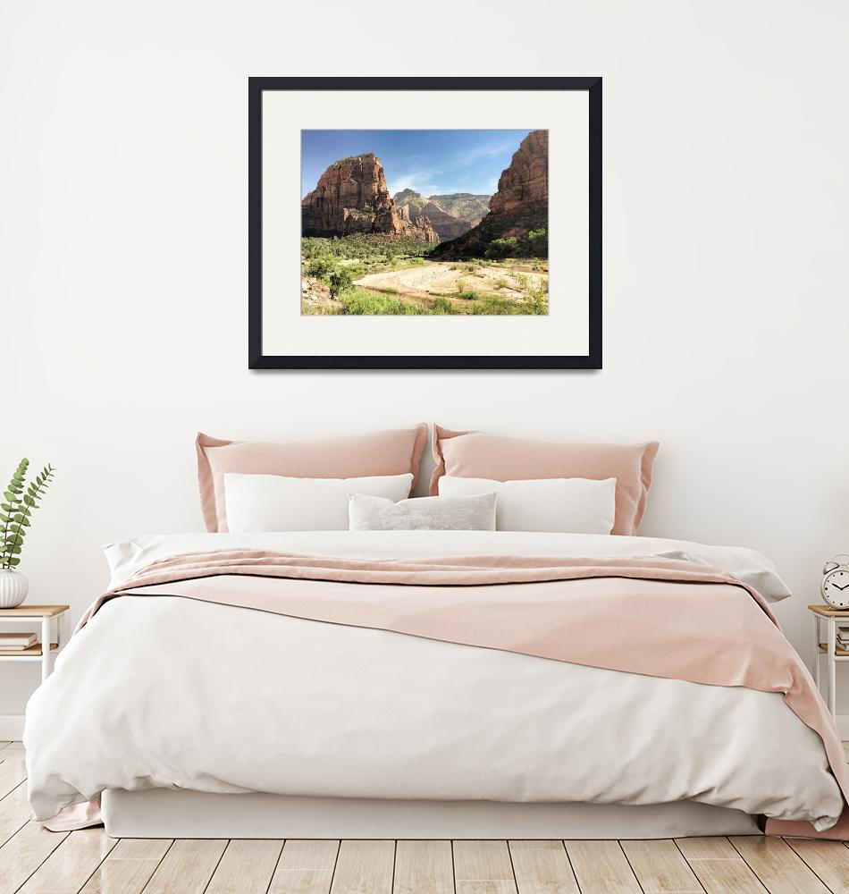 """""""Angels Landing and Zion National Park""""  (2015) by robertmeyerslussier"""
