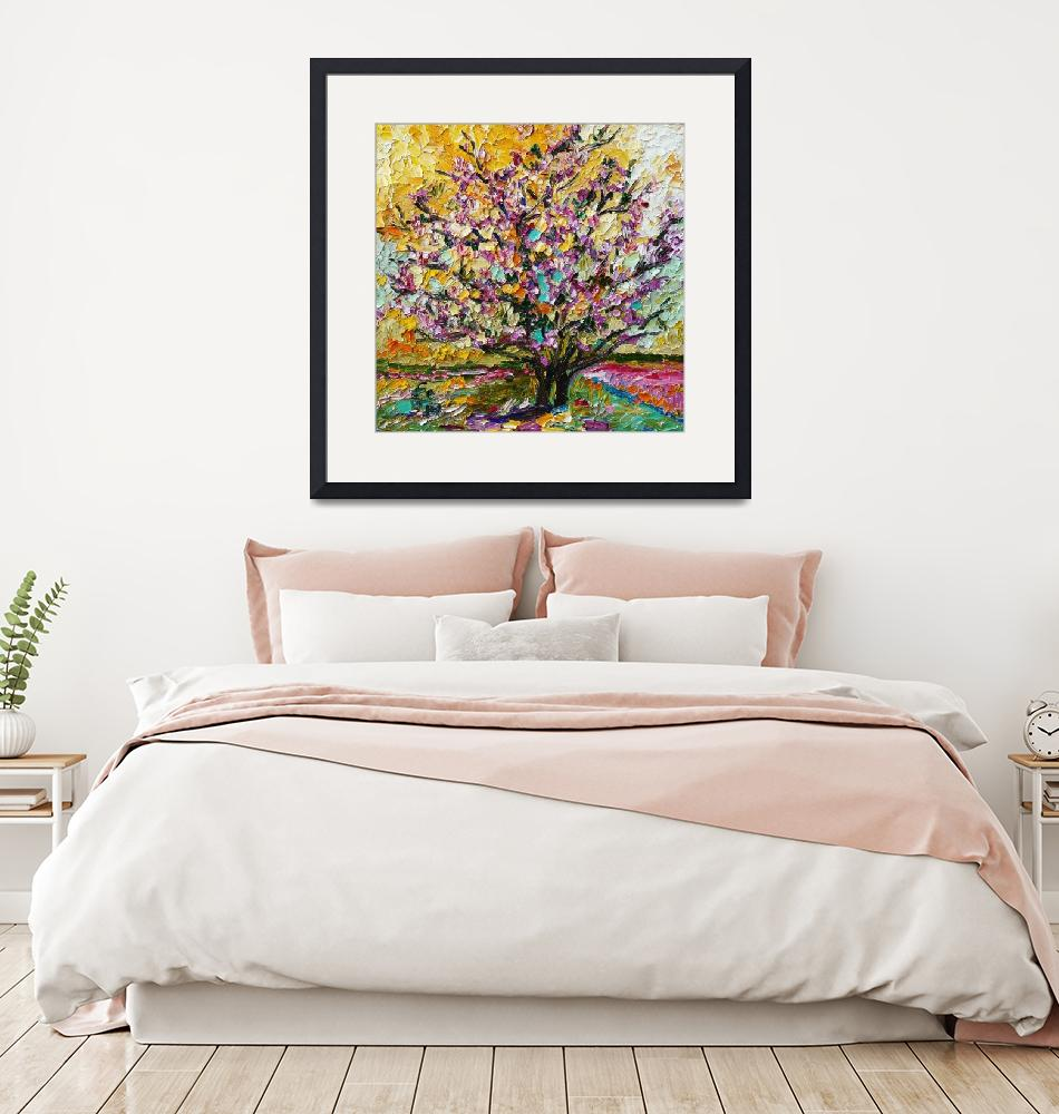 """""""Tulip Magnolia Tree Impressionist Oil Painting by""""  (2010) by GinetteCallaway"""