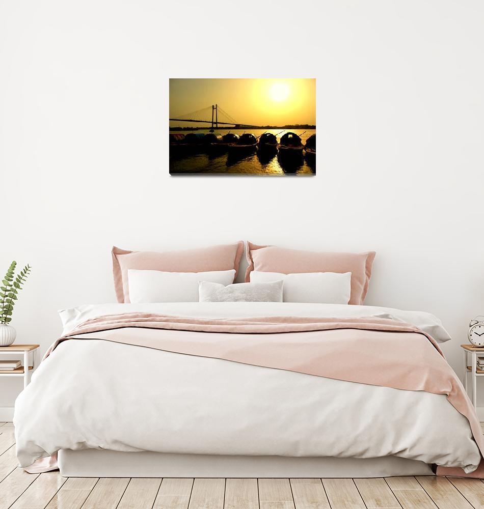 """""""Sunset in Ganges""""  (2012) by vortex"""