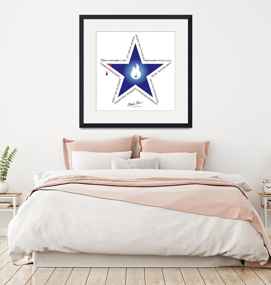 """""""Freedom Star 2 square""""  (2007) by ChuckClore"""
