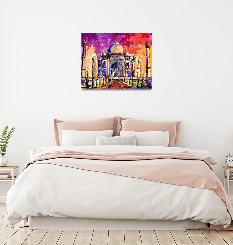 """Taj Mahal India Temple Mixed Media Art""  (2012) by GinetteCallaway"