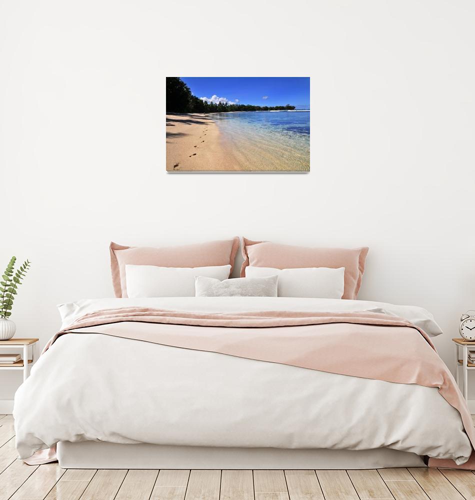 """Seychelles beach""  (2007) by Mie"
