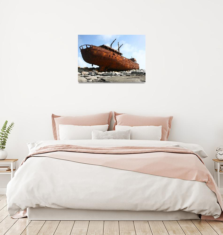 """""""Shipwreck""""  by WillyDaleArt"""