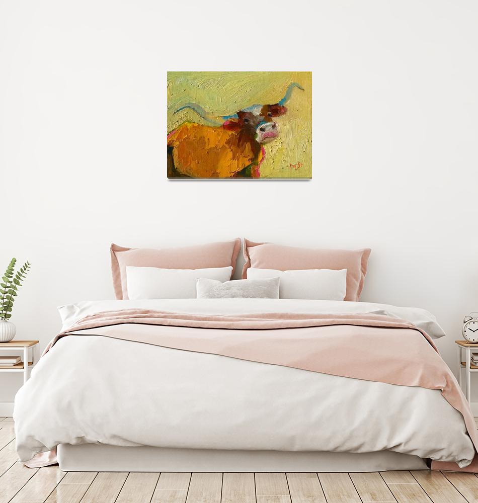 """Texas Longhorn 13013""  (2013) by NancyStandlee"