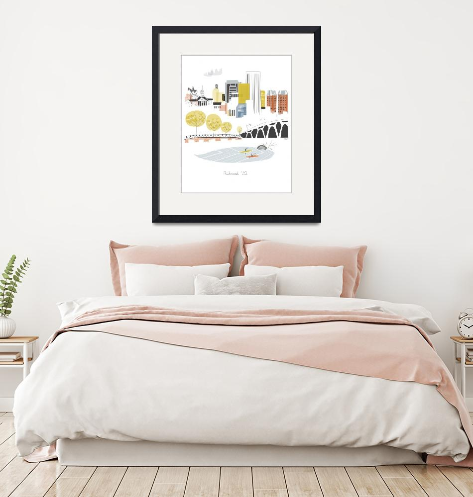 """""""Richmond Modern Cityscape Illustration""""  by AlbieDesigns"""