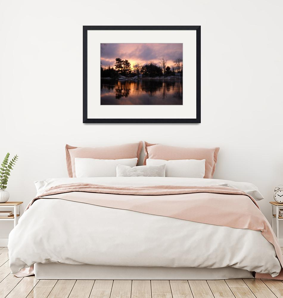 """Mississippi River Dawn Light""  (2010) by niftywares"