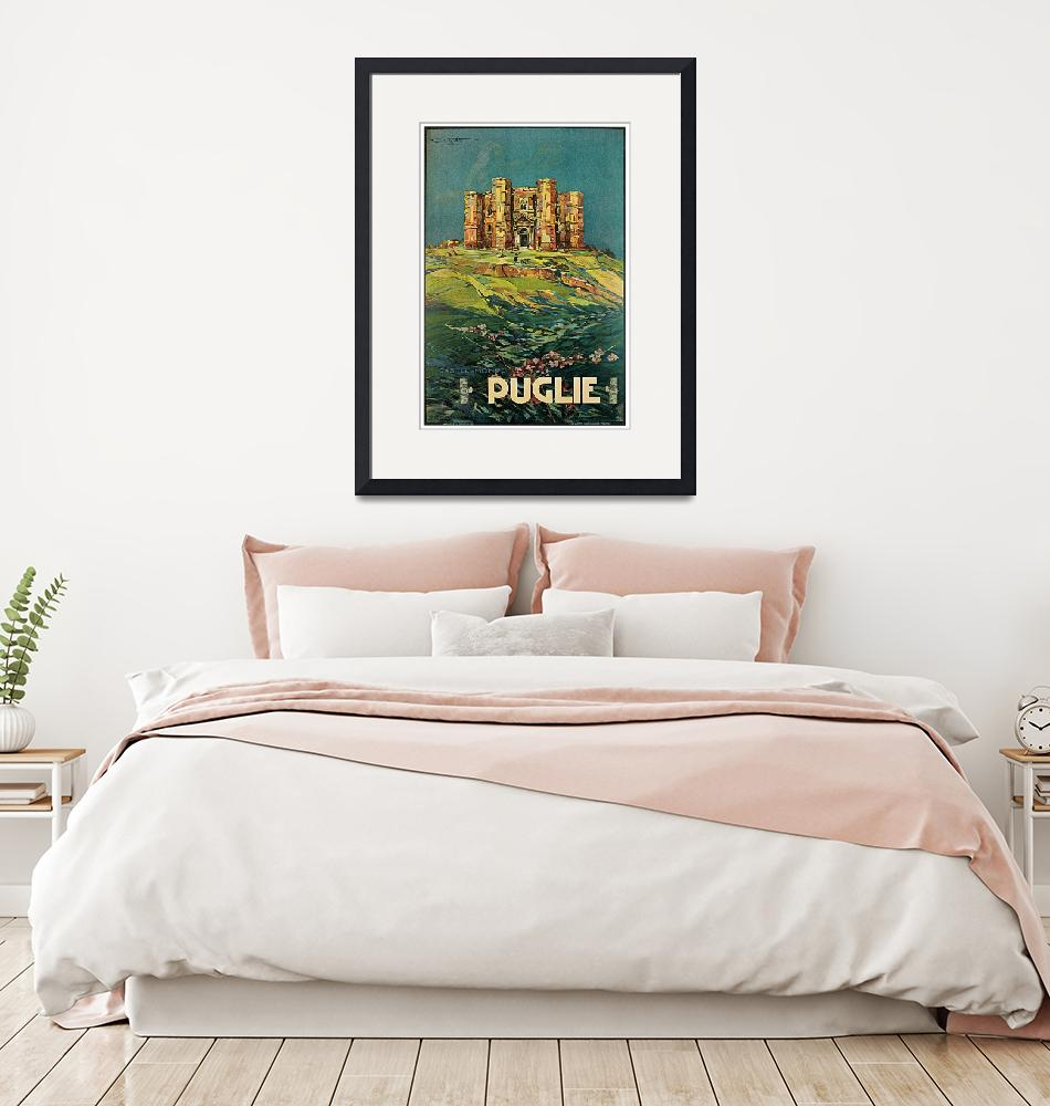 """""""Vintage Puglia Italy Castle Travel""""  by PDGraphics"""