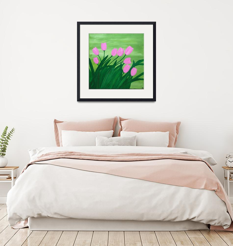 """""""Spring tulips""""  (2014) by Rachelolynukart"""