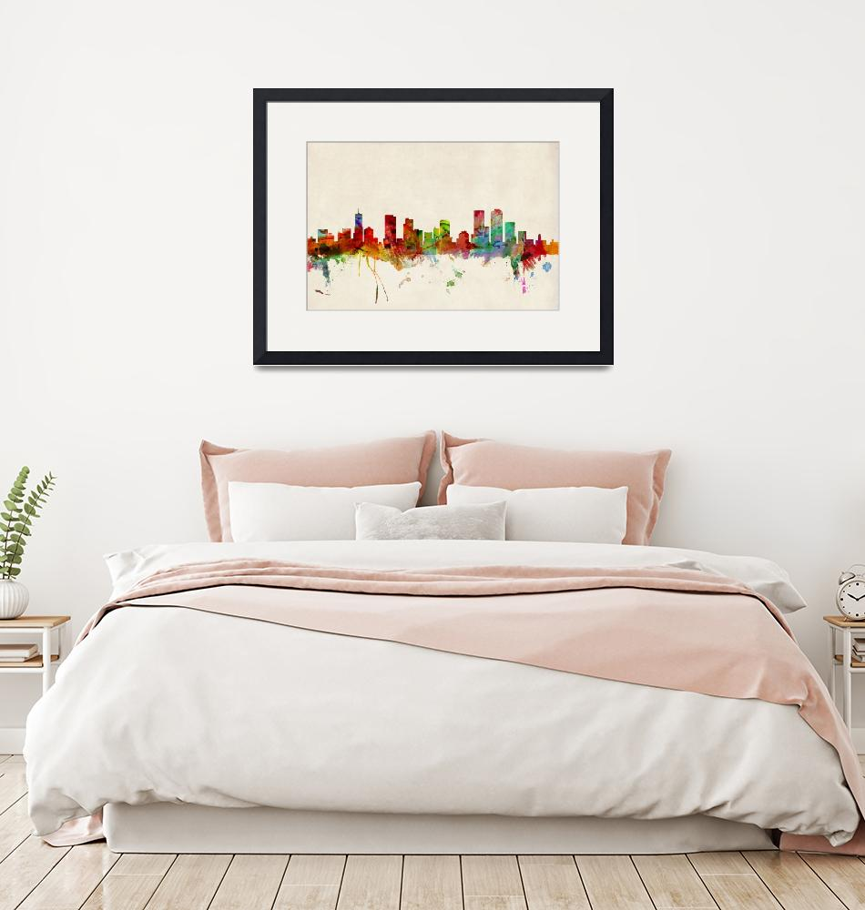 """Denver Colorado Skyline""  (2013) by ModernArtPrints"