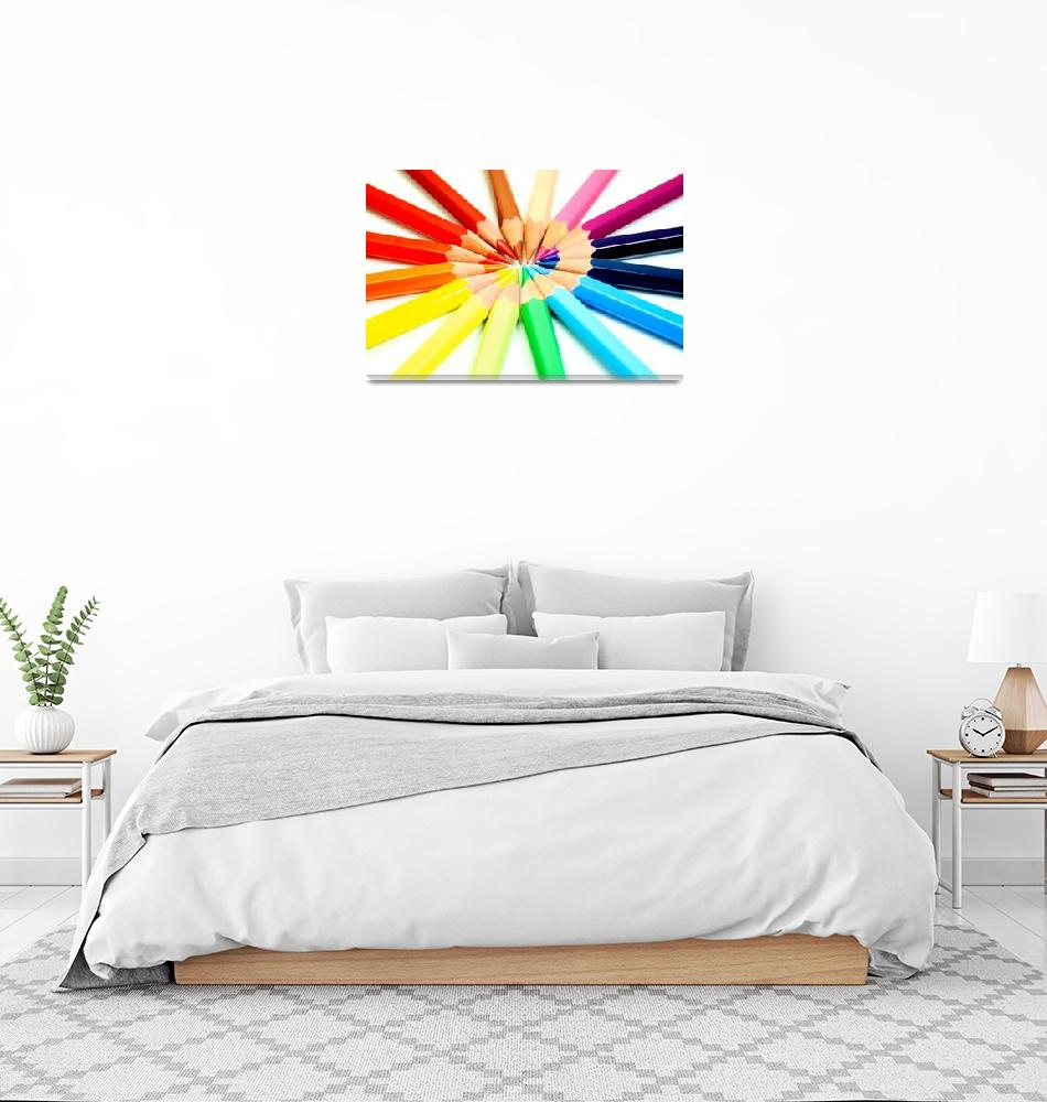 """Colored Pencils""  (2008) by ModernArtPrints"