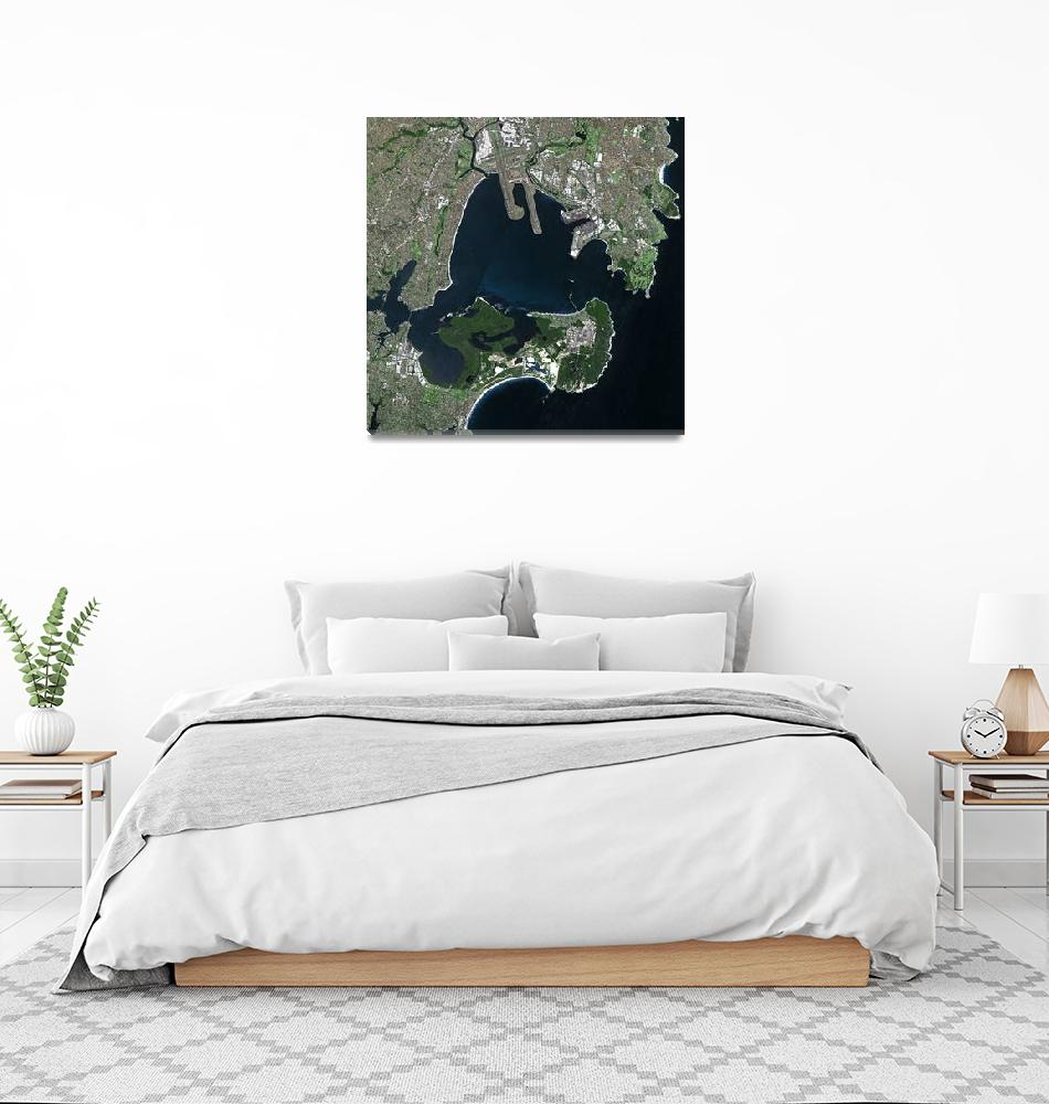 """Sydney (Australia) : Satellite Image""  (2005) by astriumgeo"