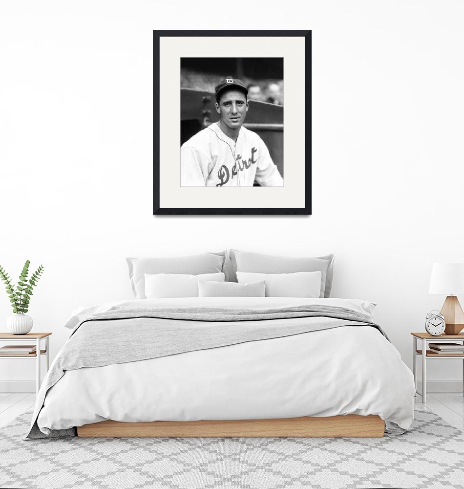 """""""Hank Greenberg looking into camera""""  by RetroImagesArchive"""