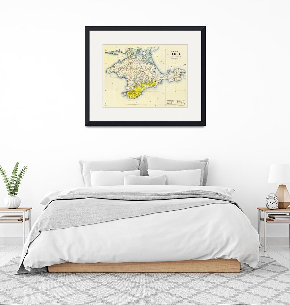 """Vintage Map of Crimea (1922)""  by Alleycatshirts"