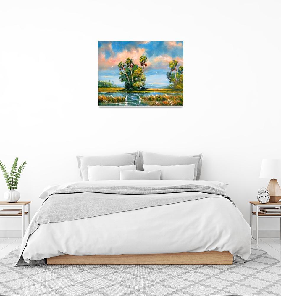 """Florida Everglades Wind""  (2007) by mazz"
