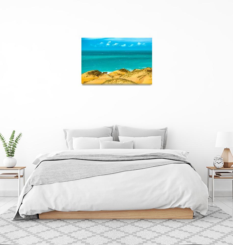 """Dunes and Ocean Jericoacoara Brazil003""  (2015) by danfleitesart"
