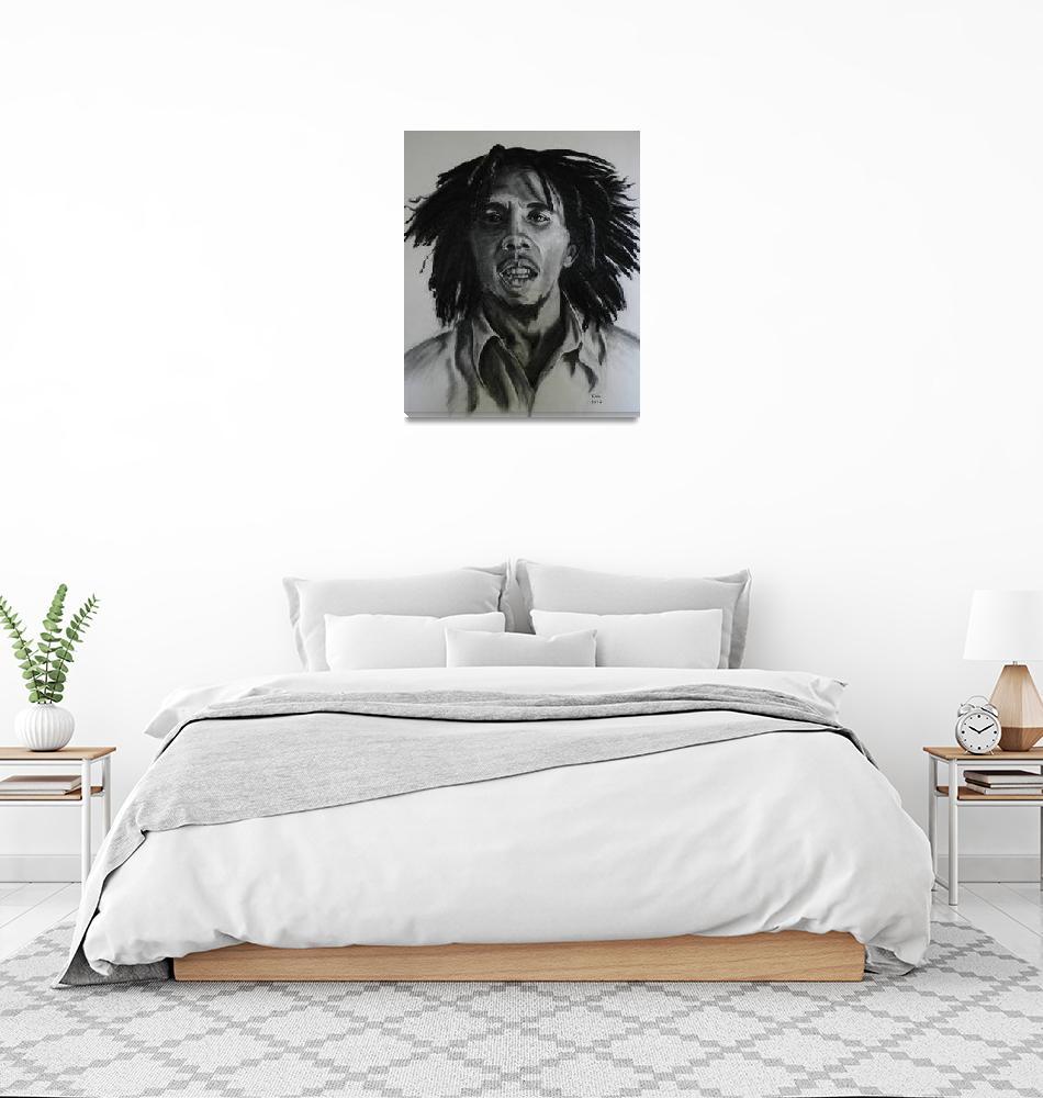 """Bob Marley. Charcoal drawing.""  (2012) by kiravru"